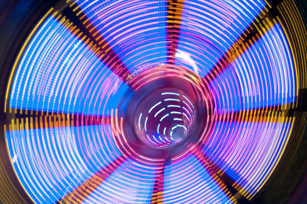 Photograph - Fairground Abstract II by Helen Northcott