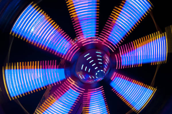 Photograph - Fairground Abstract IIi by Helen Northcott