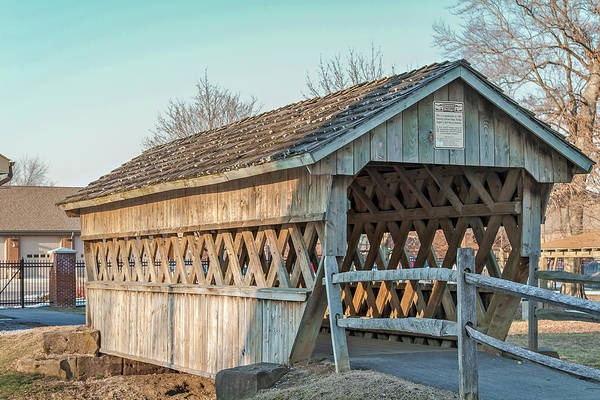 Photograph - Fairgrounds Covered Bridge by Jack R Perry