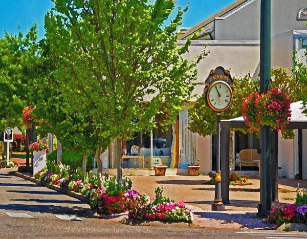 Painting - Fairhope Ave With Clock Looking North Up Section Street by Michael Thomas