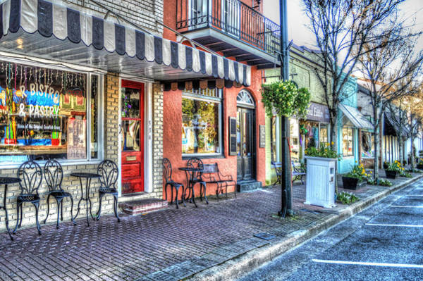 Photograph - Fairhope R Bistro Sidewalk by Michael Thomas