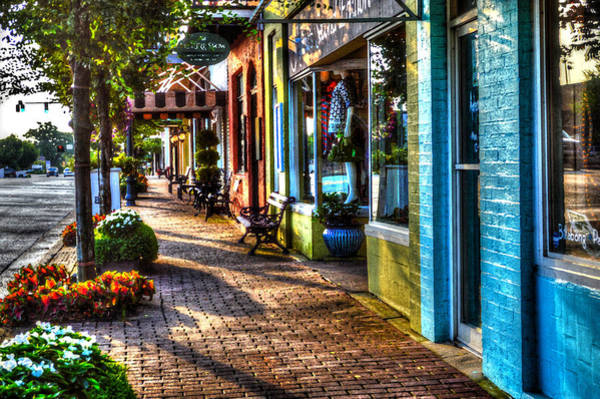 Photograph - Fairhope Sidewalk by Michael Thomas