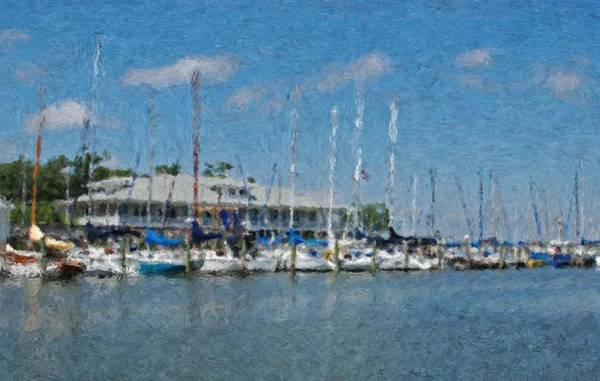 Painting - Fairhope Yacht Club Impression by Michael Thomas