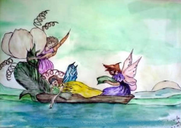 Painting - Fairies At Sea by Aingeal Rose