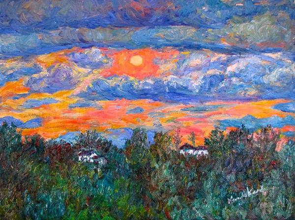 Painting - Fairlawn Eve by Kendall Kessler