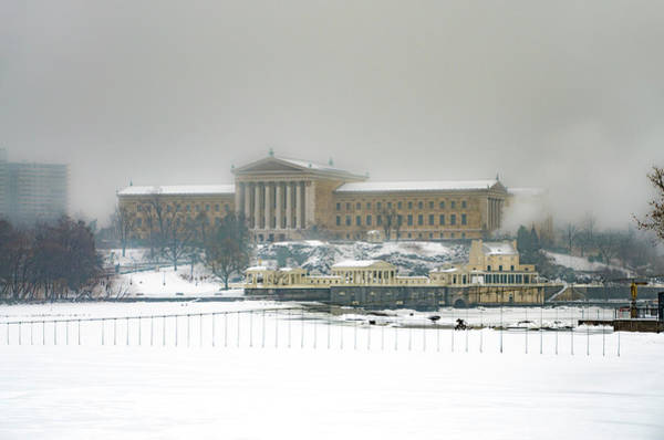 Photograph - Fairmount Waterworks And Philadelphia Art Museum In The Snow by Bill Cannon