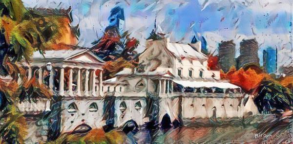 Philly Digital Art - Fairmount Waterworks In Philadelphia Watercolor by Bill Cannon