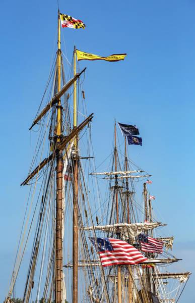 Photograph - Fairport Harbor Tall Ships by Dale Kincaid
