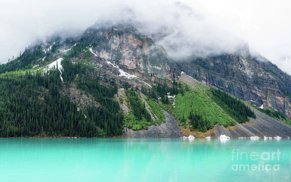Moraine Lake Photograph - Fairview Mountain Above Lake Louise by Mike Reid