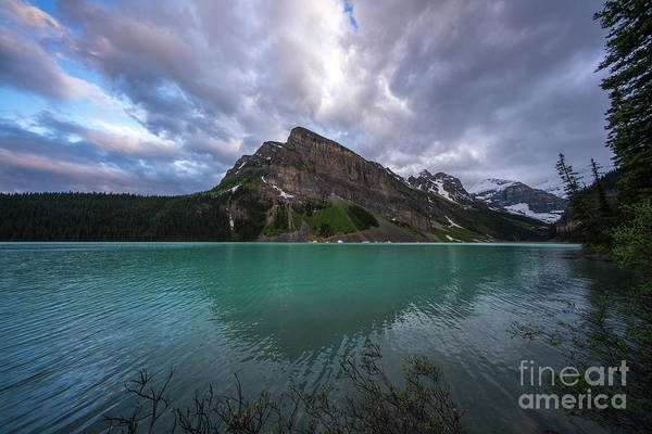 Moraine Lake Photograph - Fairview Mountain And Lake Louise by Mike Reid