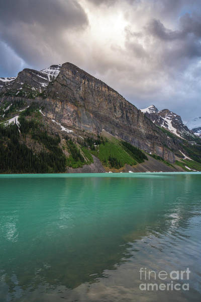 Vermillion Lakes Wall Art - Photograph - Fairview Mountain And The Aqua Waters Of Lake Louise by Mike Reid