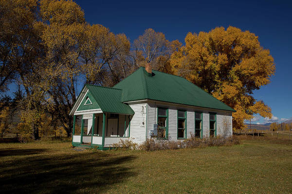 Pioneer School Photograph - Fairview School Gunnison County by Bridget Calip