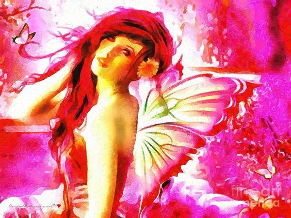 Fairy Angel In The Mix In Thick Paint Art Print