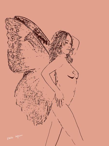 Female Nude Digital Art - Fairy Bad Hair Day by Tray Mead