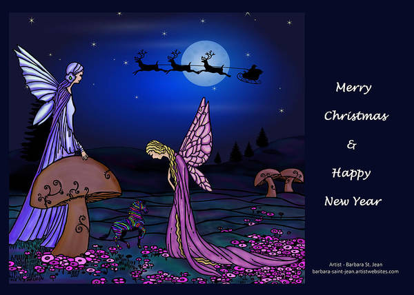 Digital Art - Fairy Christmas Card by Barbara St Jean