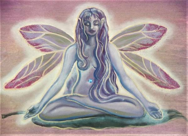 Painting - Fairy Doing Yoga by Suzn Smith