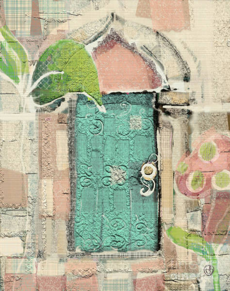 Arch Mixed Media - Fairy Door by Carrie Joy Byrnes