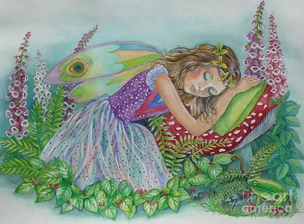 Painting - Fairy Dreams by Val Stokes