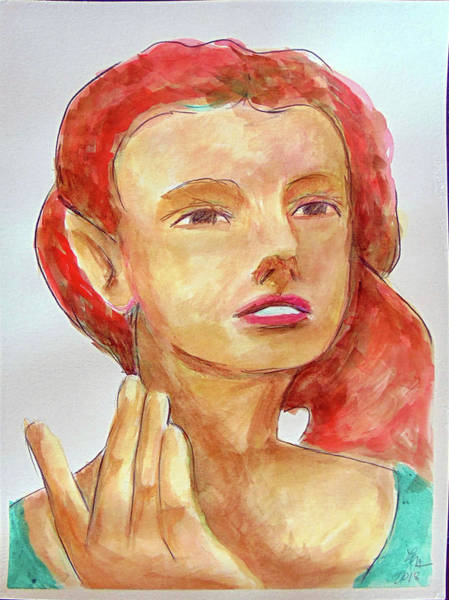 Painting - Fairy Face by Loretta Nash
