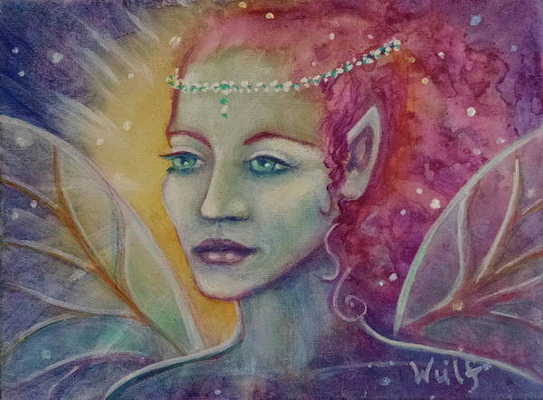 Painting - Fairy Fantasy by Bernadette Wulf