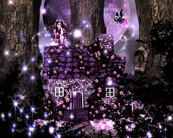 Digital Art - Fairy Forest Firefly Lane by Artful Oasis