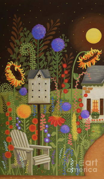 Birdhouse Painting - Fairy Garden 1 by Mary Charles