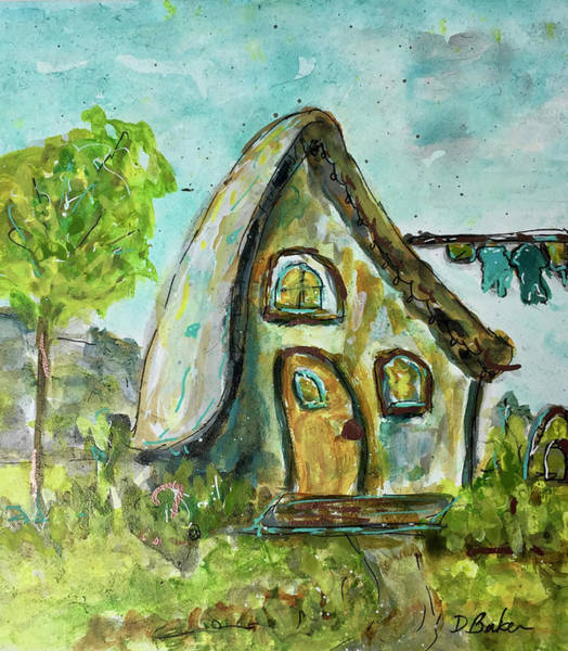 Home Sweet Home Wall Art - Painting - Fairy Home by Dolores Baker