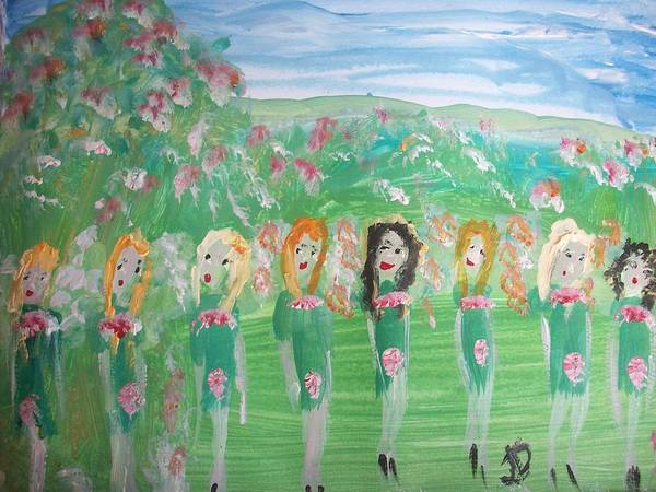 Irish Dance Painting - Fairy Irish Jig by Judith Desrosiers