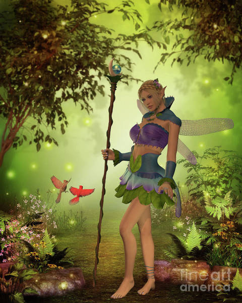 Mirage Digital Art - Fairy Katria by Corey Ford