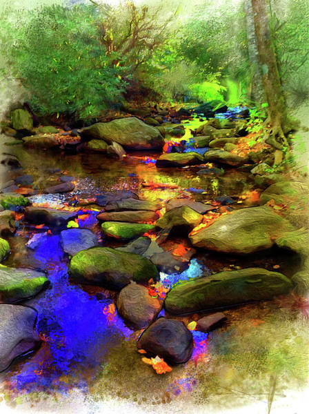 Digital Art - Fairy Springs by Gina Harrison