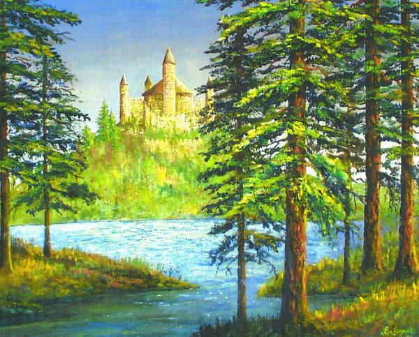 Wall Art - Painting - Fairy Tale Castle by Lou Ann Bagnall
