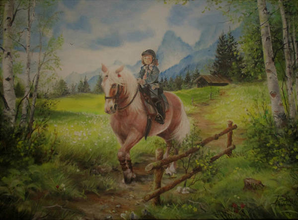 Painting - Fairy Tale In The Alps by Sorin Apostolescu
