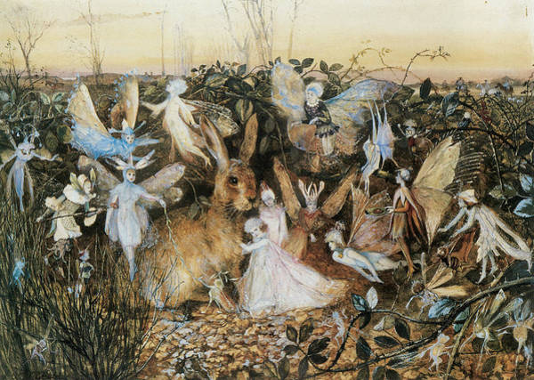 Rabit Painting - Fairy Twilight by John Anster Fitzgerald