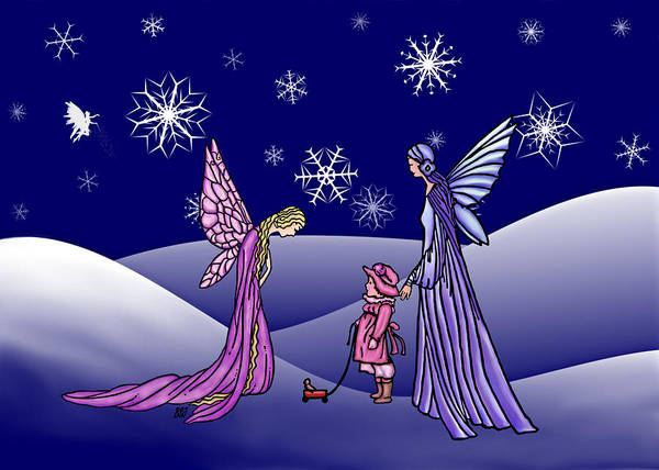 Digital Art - Fairy Winter by Barbara St Jean