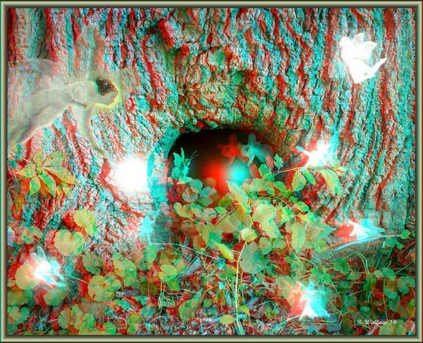 Anaglyph Photograph - Fairyland - Use Red-cyan 3d Glasses by Brian Wallace