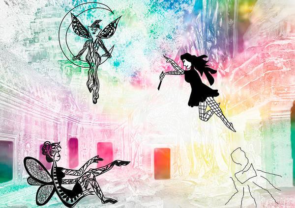 Digital Art - Fairys by Tatiana Hallack
