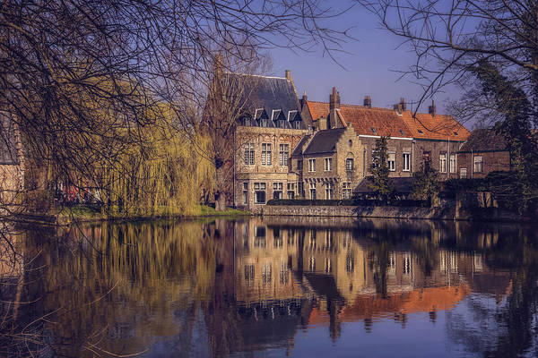Red Brick Photograph - Fairytale Bruges  by Carol Japp