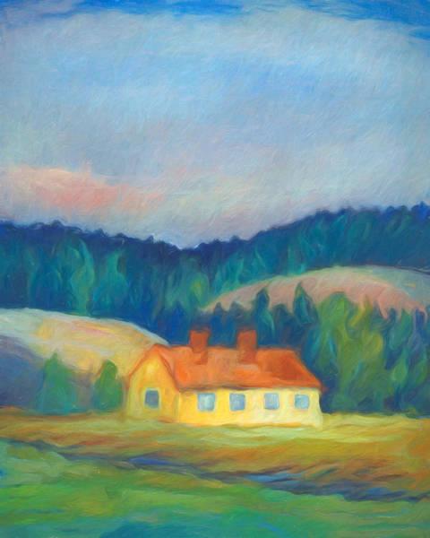 Painting - Fairytale Cottage by Lutz Baar