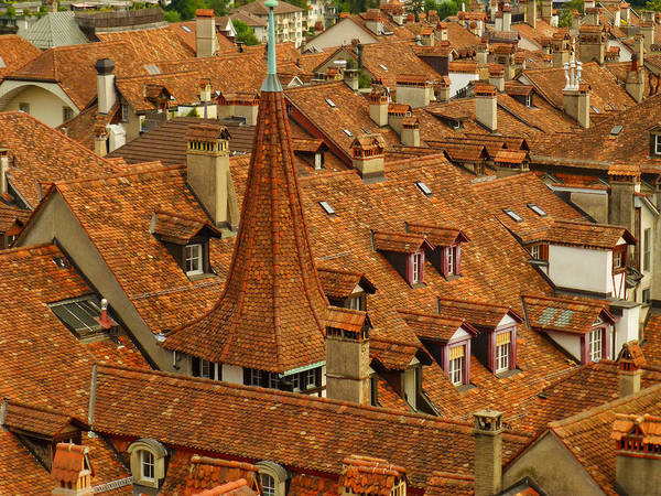 Sienna Photograph - Fairytale Rooftops, Bern by Connie Handscomb