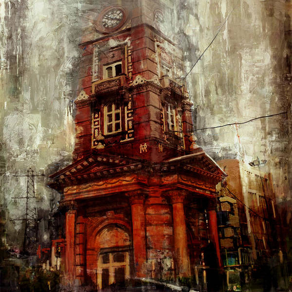 Clock Tower Painting - Faisalabad 2 by Maryam Mughal