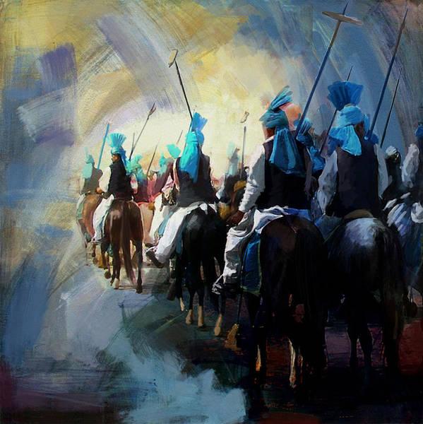Polo Wall Art - Painting - Faisalabad 3 by Maryam Mughal