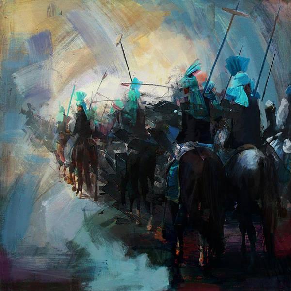 Polo Wall Art - Painting - Faisalabad 3b by Maryam Mughal