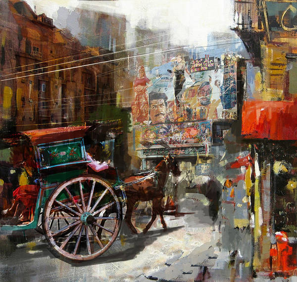 Wall Art - Painting - Faisalabad 8 by Maryam Mughal
