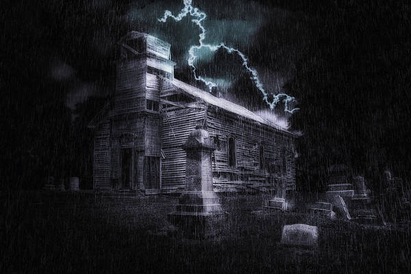 Graveyard Wall Art - Photograph - Faith And Fury by Tom Mc Nemar