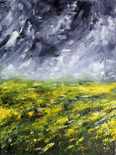 Mustard Field Painting - Faith Holds by Meaghan Troup