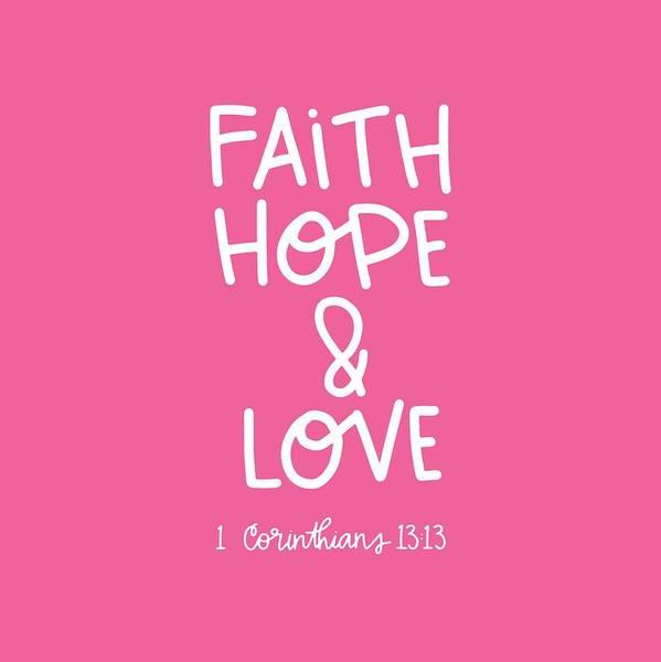 Mixed Media - Faith Hope Love by Nancy Ingersoll