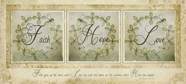 Photograph - Faith Hope Love by Robin-Lee Vieira