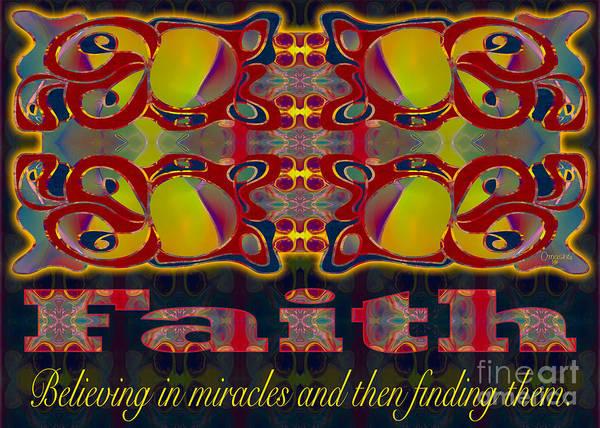 Cultivation Digital Art - Faith Motivational Artwork By Omashte by Omaste Witkowski