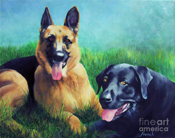 Assistance Painting - Faithful Companions by Jeanette French