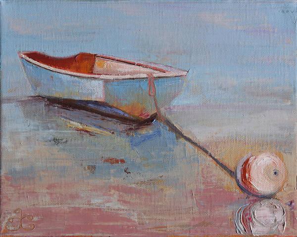 Painting - Faithful Dinghy by Trina Teele